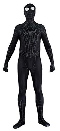 The Amazing Spiderman 2 Costume Black Spandex Halloween Cosplay Spider-Man Costume (Kids-Medium)