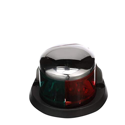 (Seachoice 02041 LED Bi-Color Bow Light - Stainless, Red and Green Lenses, 2-Mile Visibility for Sail or Powerboats Under 66 Feet)
