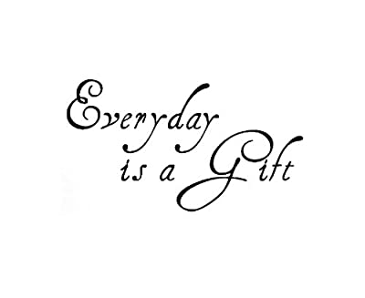 Dailinming PVC Wall Stickers Wall Sticker Decal Quote Vinyl Art Removable Lettering Everyday is a Gift 91X51CM