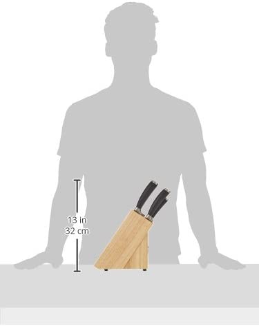Ceppo in Legno con coltelli Raymond Blanc 56444 6 Pezzi