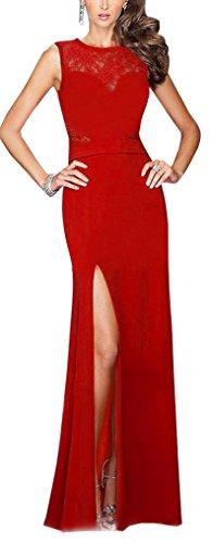 Kleid rot lang ruckenfrei