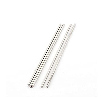 5PCS 120x2.5mm recta de acero inoxidable Eje Eje Varilla ...