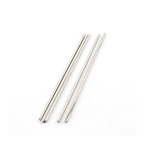 5PCS 120x2.5mm recta de acero inoxidable Eje Eje Varilla ...