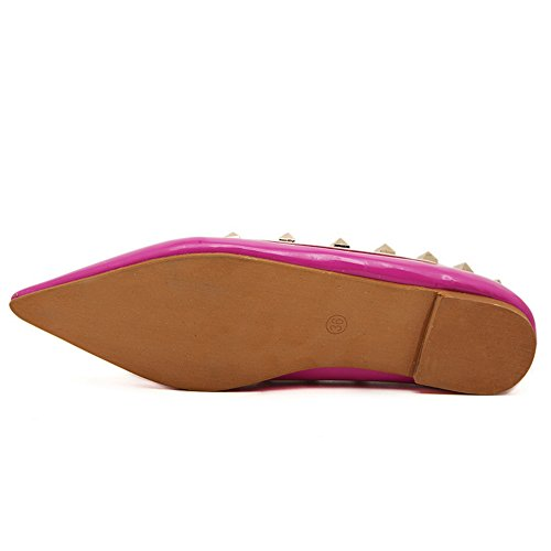 AdeeSu Womens Comfort All-Weather Urethane Flats Shoes Rosered iZS8qjfknq