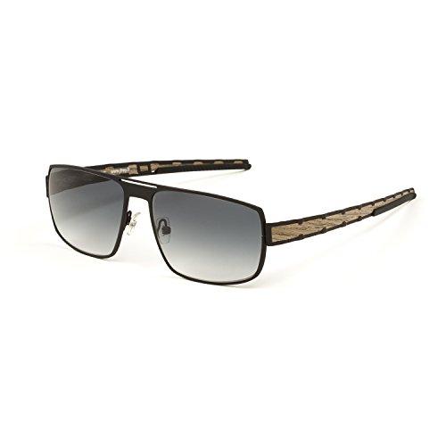 e8ca6dceb0b J.F. Rey Full Rim Wood Construction Sunglasses 58mm Black Walnut