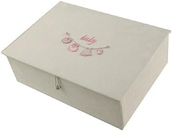 Bebé de color blanco y caja diseño de osos de peluche con diseño especial de color rosa colada o platos de camping en la línea de: Amazon.es: Bebé
