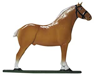 """30"""" Horse (Draft) Weathervane Finish: Rooftop Color"""