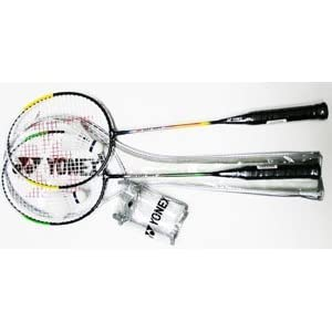 Racket Frame: Steel YONEX Combo Badminton Recreational Package 2 Racket Set