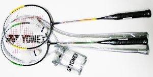 Racket Frame: Steel YONEX Combo Badminton Recreational Package 2 Racket Set