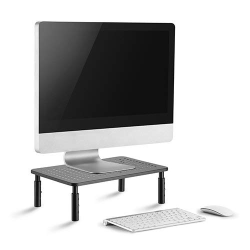 Clearance Sale CASIII Monitor Stand Riser Computer Desktop Screen Display Vented Laptop Stand, iMac, Printer Platform Shelf with Height Adjustable Converter 3.9 to 5.5 Inch Tall, CAS-081 Black