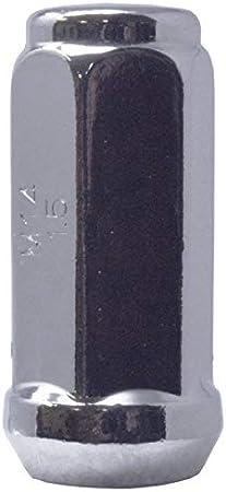60 Degree Conical Seat 3//4 Hex Triple-Chrome Finish Acorn Bulge After-Market Lug Nut Set M14X1.5 Thread Pack of 24 Mastiff 13759