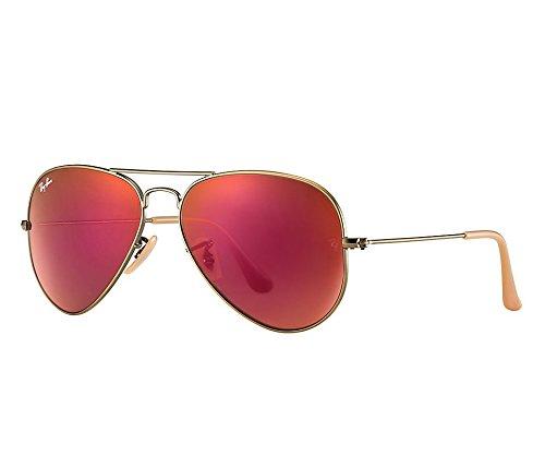 Non ban mirrored Sunglasses Aviator 3025 Non Large Ray Bronze polarized Metal Zqd0xf