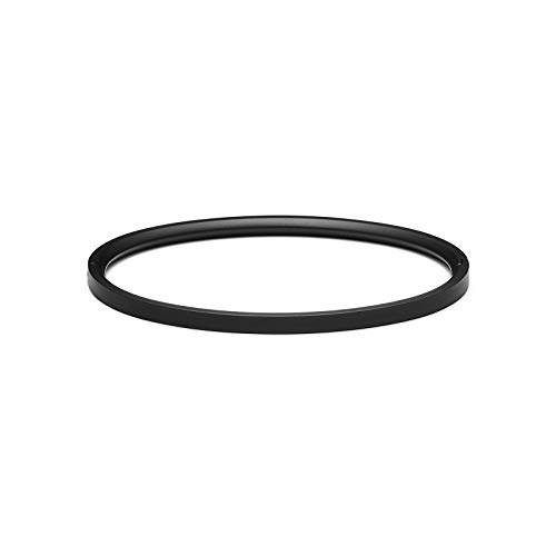 MVMT Women's Ellipse Thin Bangle Bracelet | Clasp Closure, Stainless Steel | Black
