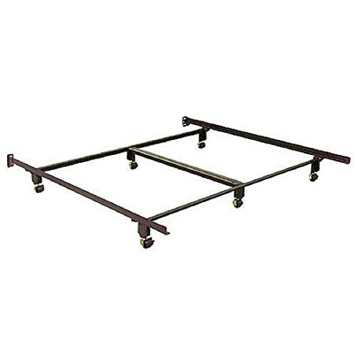 CA King Size Instamatic Metal Bed Frame on Casters with Headboard Brackets CHOOSEandBUY