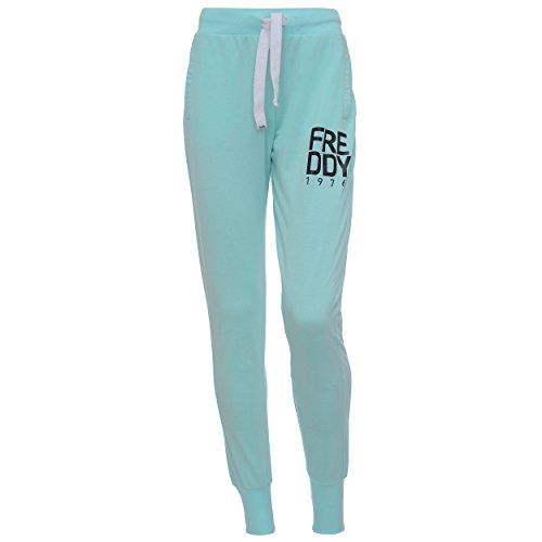 Freddy, Pantalones Deportivos para Mujer, Talla Única Verde