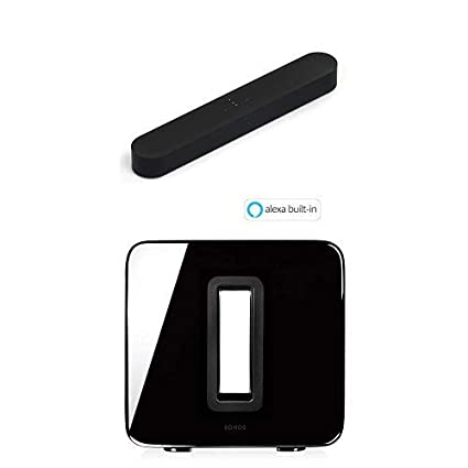 New Sonos Beam  Compact Smart TV Soundbar with Amazon Alexa Black