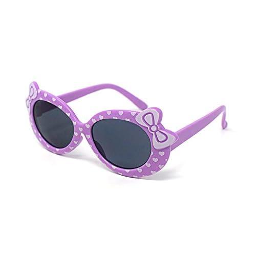 4d3a49274b Lovely 2 x niños de color púrpura niñas niños con estilo lindo diseñador gafas  de sol ...