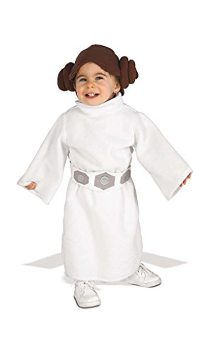 Star Wars Princess Leia Costume & Hair Piece Toddler Size 2-4 for Ages 1-2