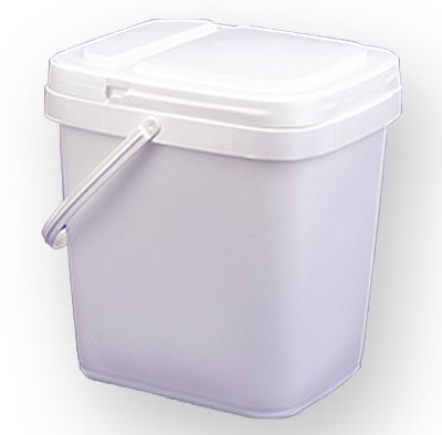 4 gal.Square Ez Stor Bucket and lid, w/Handle,