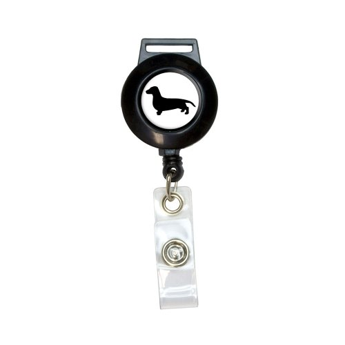 Dachshund - Weiner Dog Lanyard Retractable Reel Badge ID Card Holder
