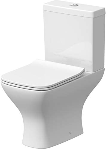 Ceramica Modern Bathroom Toilet Close Coupled WC Thermoset Soft Close Seat Cistern Pan