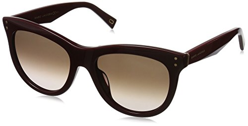 Marc Jacobs Women's Marc118s Square Sunglasses, Burgundy/Brown Gradient, 54 - Sunglasses Red Jacobs Marc