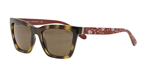 COACH Women's 0HC8208 Dark Tortoise/Red Electric Floral/Brown Solid One Size