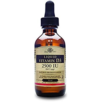 Solgar Liquid Vitamin D3 (Cholecalciferol) 5000 IU, Natural Orange Flavor, 2 oz