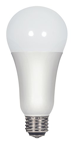 A21 Medium Base 3 Way - Satco S9372 A21 LED 3-Way Frosted 4000K Medium Double Contact Base Light Bulb with 300' Beam Spread, 3W/11W/16W