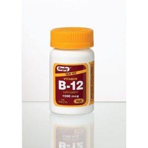 Vitamin B-12 Tablets 1000mcg 100ct (Pack of 2)
