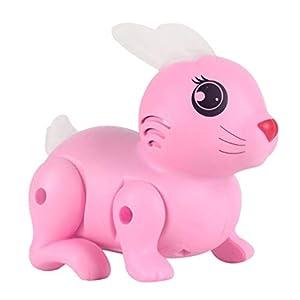 TOYANDONA Electronic Rabbit Toy Robot Rabbit Bunny Bouncing Flashing Toy Interactive Pet Toy for kids