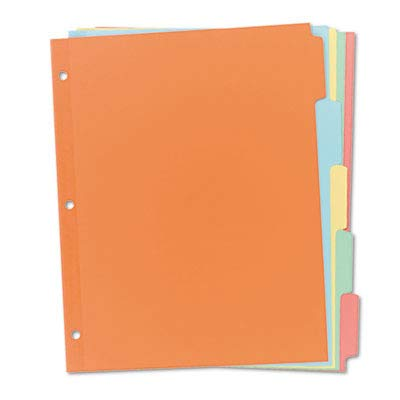 Avery 11501 Write & Erase Plain-Tab Paper Dividers, 5-Tab, Letter, Buff (Box of 36 Sets) by AVERY