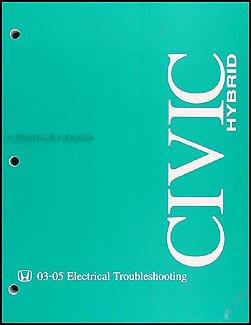 2003-2005 Honda Civic Hybrid Factory Electrical Troubleshooting Manual