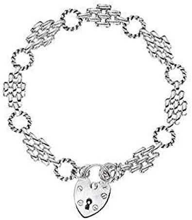 Brazalete de plata de ley con diseño de pantera de diamante