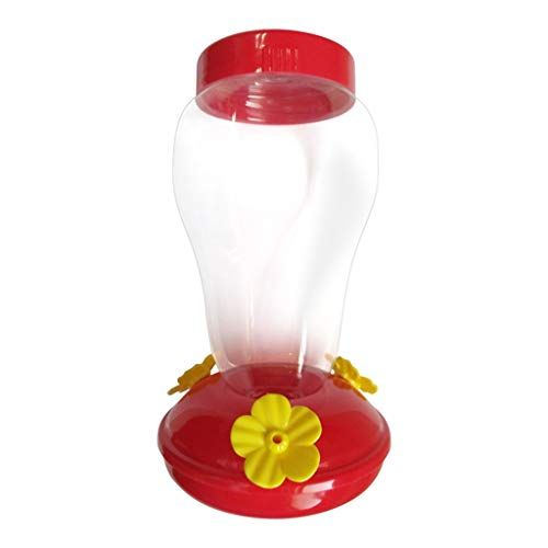 Eve.Ruan Wide Mouth Pinch-Waist Glass Hummingbird Feeder, Three Flower-Shaped Feeding Ports with Comfortable Perches, Clear Bottle to Monitor Nectar Levels