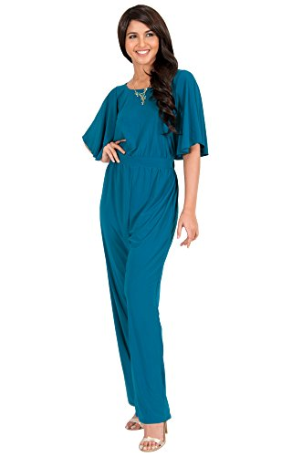 1fb82e5d0fb KOH KOH Plus Size Women Short Sleeve Wide Leg Long Casual Cocktail Pants  One Piece Jumpsuit Jumpsuits Pant Suit Suits Romper Rompers Playsuit  Playsuits