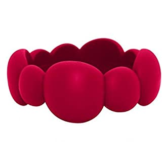Jellystone Pebble Bangle, Scarlet Red