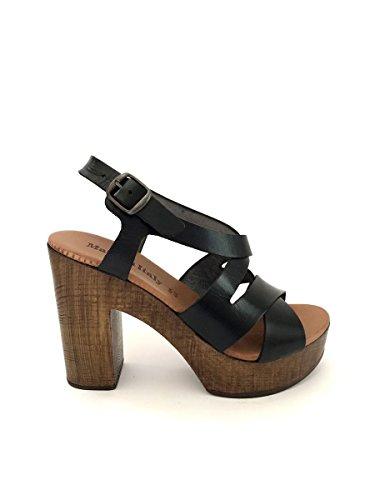 ZETA SHOES - Sandalias de vestir de Piel para mujer negro