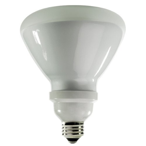 Floodlight Compact Fluorescent Light Bulb - TCP CFL Covered R40 120W Equivalent, Soft White (2700K) Flood Light Bulb - Wet Location Rated