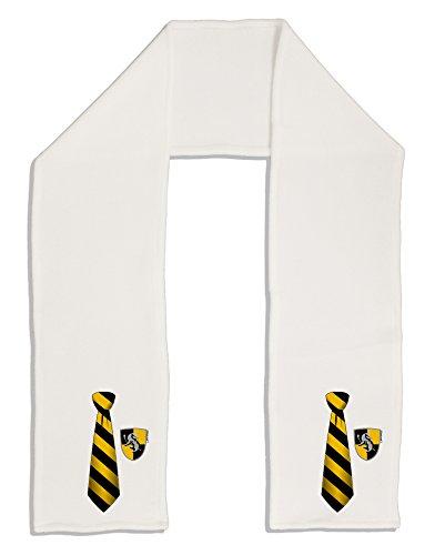 Fleece Tie Scarf (TooLoud Wizard Tie Yellow and Black Adult Fleece 64