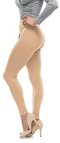 Plus Size Premium Quality Extra Soft Leggings for Tall and Curvy - Mocha ()