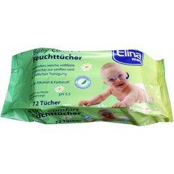 Babytücher, Feuchtücher 72 Stück mit Kamille und Aloe Vera, ohne Alkohol & Farbstoffe