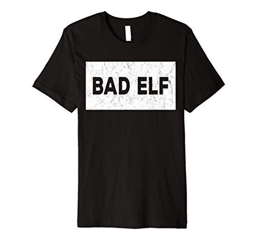 Funny Sarcastic Christmas Shirt - Bad Elf Premium T-Shirt]()