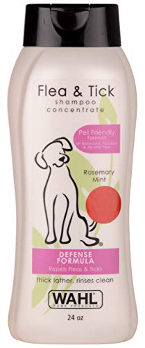 Wahl Dog/Pet Shampoo, Flea and Tick, Rosemary Mint