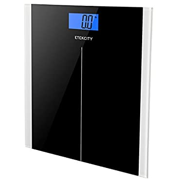 Etekcity Digital Body Weight Bathroom Scale with Step-On Technology, 400 Pounds, Elegant Black