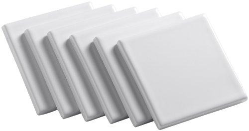 Kohler K-14200-0 Solid-Color Field Tile, 4-1/4
