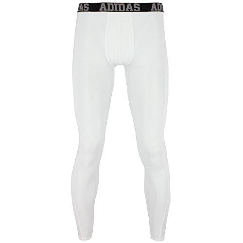 adidas Men's Baselayer Climacool UPF Pants, White, (Adidas Mesh Pants)