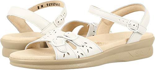 Women's SAS, Duo Low Heel Sandal White 11.5 WW ()