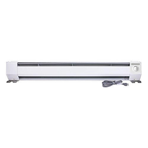 King KP1210 1000-Watt 120-Volt 4-Foot Portable Baseboard Heater, Bright - 120 Baseboard