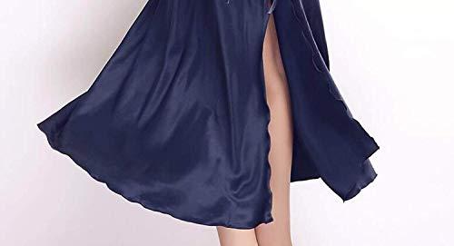 Donna Da Pizzo Vestito Smanicato Spalline Estivi Indumenti Senza Rosso Patchwork Schienale neck V Abito Notte Camicie Homewear rqIrw54